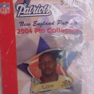 Ty Law 24 New England Patriots NFL 2004 Pin Lapel Football NFL NiP