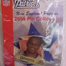 David Givens 87 New England Patriots 2004 NFL Football Pin Lapel NIP
