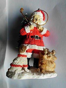 Dale Earnhardt Jr NASCAR Collectible Christmas Tree Santa's Ornament 2004 NiB
