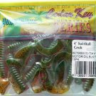 "Hurricane Soft Baits Lures 4"" Swiril-Tail Grubs MotrOil Blak/Flak Bass Lure New"