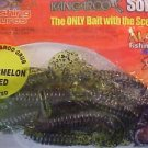 "Kangaroo Soft Plastic Artificial Scent Baits Lure 4"" Hook Tail Grub Watrmeln NOS"