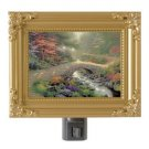 Thomas Kinkade NightLight Bridge Of Faith 5x4 Painting Of Light GR8 Xmas GIF NIB