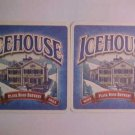 8 Ice-House Beer Glass Ale Pilsner Coasters Mats Bar Pub Coasters LOOK