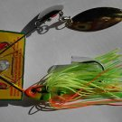 Strike King SpinnerBait 1/4oz Lure Bait ChartGreenRedOrang Bass Fishing Lure NEW