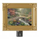 Thomas Kinkade NightLight Bridge Of Faith 5x4 Painting Of Light Gr8Xmas Gift NEW