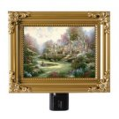 "Thomas Kinkade NightLight ""Gardens Beyond Spring Gate"" 5x4 Painting Of Light NIB"