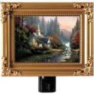 "Thomas Kinkade NightLight ""The Forest Chapel"" 5""x4"" Painting Of Light NEW Gift"