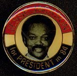 Jesse Jackson For President In 1984 Pin/Back Black History MINT LOOK New Old