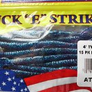 Luck E Strike Soft Plastic Worms Baits Twirl Tail Elect Blue Artificial Bait NIP