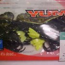 "YUM Soft Baits Houdini Crabs 3"" Shrimp Black Chart Lures NEW"