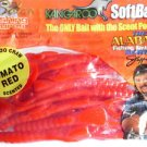 "Kangaroo Scented Soft Plastic Baits Lures 6"" Tomato Red CrawDad Bass Fishing NOS"