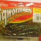 """Berkley Sqwormers Bait  4"""" Lizards Pump Gren Flk Bass Fishing Lures Tackle NeW"""