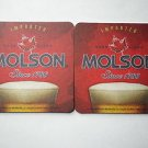 6 MOLSON Beer Biere Ale Pilsner Bar Can Bottle Pub Coasters Tavern Mats New