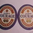 6 John Courage Premium Beer Coasters Mat Amber Ale Bar Pub Party Coasters LOOK
