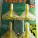 HELICOPTER Weedless Plastic Lures Worms TopWater Bass Baits 4 Yellow Chart NIP