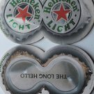 1 Heineken Light Beer Bier Bar Coaster Can Mats Large Die Cut Coaster NEW