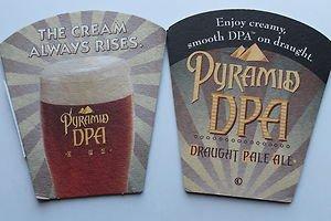 4 Pyramid DPA Beer Bier Bar Coasters Can Mats Ale NEW