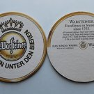 4 Warsteiner Premium Beer Bier Bar Coasters Can Mat Ale NEW