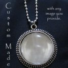 Vintage Style Glass-Domed Custom Pendant w/ Ball chain