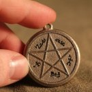 Supernatural Devil's Trap Silver Pendant Necklace - Sam & Dean Winchester