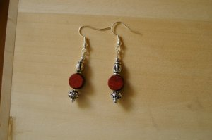 Stained bead earring