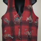 Vintage Red Rodeo Horse Vest M At Last Sportswear Co