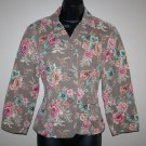Cropped Peplum Jacket Blazer Sz 8 Tailored Fit Intuitions