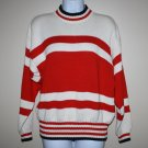 Vintage Liz Wear Red  Stripe Sweater  S Cotton