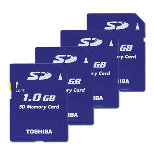 Toshiba 1GB SD Memory Card (Four Cards)