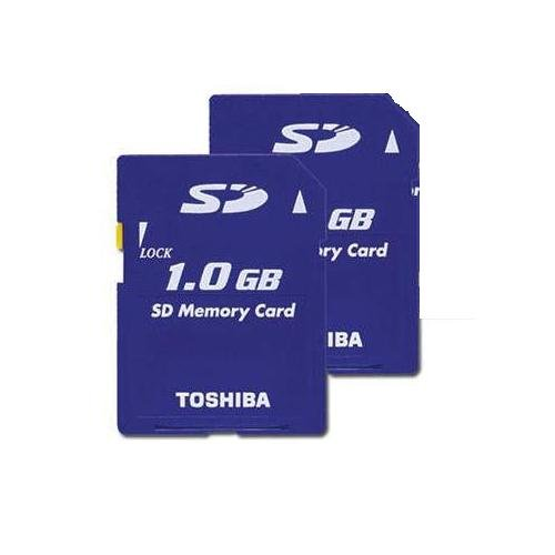 Toshiba 1GB SD Memory Card (Two Cards)