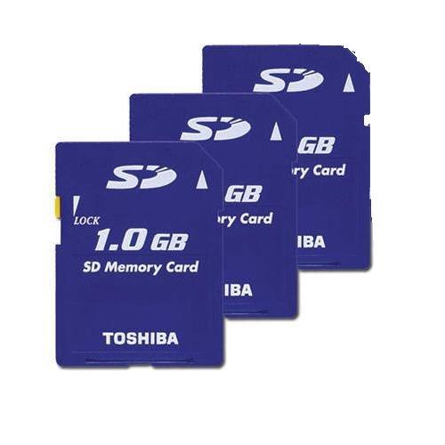 Toshiba 1GB SD Memory Card (Three Cards)