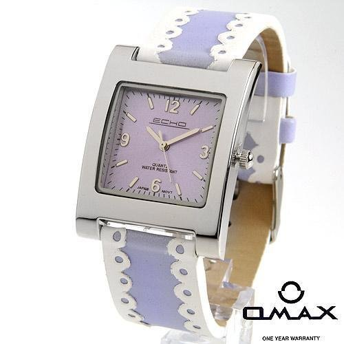 Alluring ECHO ladies Watch with Two Tone Gunuine Leather Strap. Omax Warranty