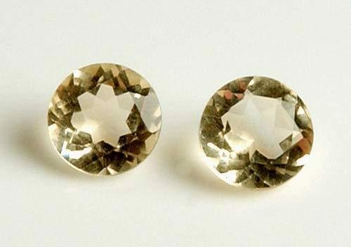 Lot of 2  2.50ctw Genuine Citrine, Round shape 7.00mm