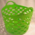 Flexible Plastic Dorm Nesting Storage Laundry Toys Closet Handle Basket Tote Bin