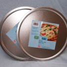 "2 Heavyweight 12"" ROUND Pizza Pie Cookie Brownie Oven Baking Tray Pan Bakeware"