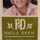 PAULA DEEN 2 PIECE WOOD HANDLE CARVING  Cutlery KNIFE FORK SET SLICER  FORK