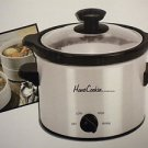 HomeCookin by WeatherWorks Stainless Steel Stoneware 2 qt Cookware Slow Cooker