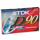 NEW 1 TDK D90 90mins Sealed Blank Audio Cassette Tape with Hight Output