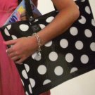 Overland Shopper Shopping Carry-All School Book Shoulder Hand Polka DOT Bag Tote