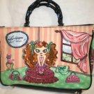 Merona Bamboo Handle Handbag Shoulder Emblished Beaded Sequine Bag Tote Purse