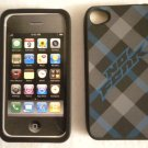 No FEAR Protective Rubber Cover for Apple iPhone 4 Cell Phone Case GREY& BLUE
