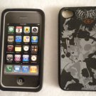 No FEAR Protective Rubber Cell Cover for Apple iPhone 4 Case Phone GREY SKULL