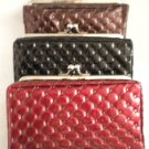 Swinton Quilted Medium Clutch Evening Party Wedding Dress Bag Purse Case BLACK