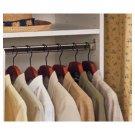 "Creative Connectors Chrome 23"" Oval Closet Shelf Garment Rod Pole End Bracket"