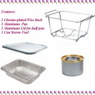 Party Buffet Serving Chafing Set Wire Half Rack Pan Lid Sterno Fuel / 5 set