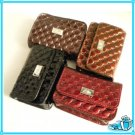 Swinton Quilted Single Pocket Key Chain Clutch Wallet Pouch Bag Purse Case