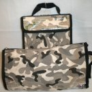 Sassy & Chic GRAY Camoflage COSMETIC Make-up Toiletry Travel Case BAG w/ Sequins