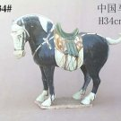 Handmade Tri-colored Pottery Chinese Horse