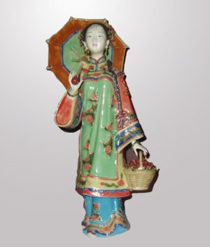 Oriental Style Ceramic Beauty Statue