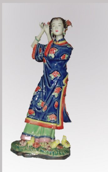 Pretty Oriental Style Dressing Porcelain Lady